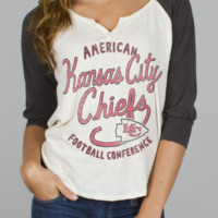 NFL Kansas City Chiefs Rookie Raglan -  - Junk Food Clothing