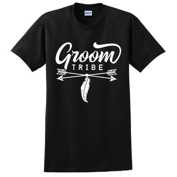 Groom tribe t shirt groomsman bachelor party shirts wedding gift for him