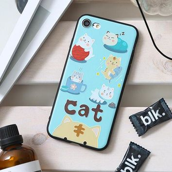 Carton Girl Flower Animal Scenery Painting Soft TPU Cases for Wiko Robby Jerry Lenny3 Back Cover for i5 i5S SE i6 i6S i7 Plus