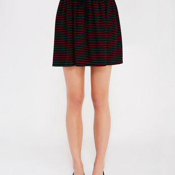 Striped Mini Skirt With Shirring | Wet Seal