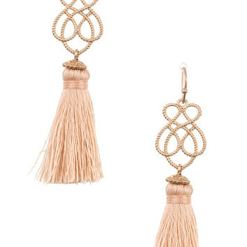 Peach Ornate Earrings