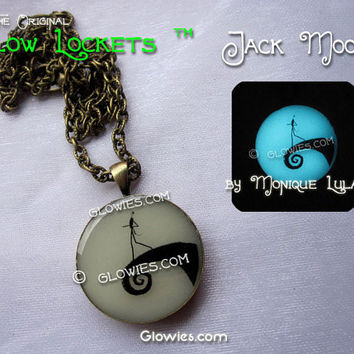 Jack Skellington inspired Full Moon Glow in the dark pendant NBC Nightmare Before