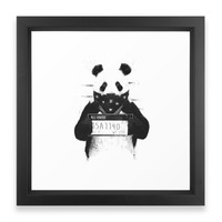 Society6 Bad Panda Framed Print