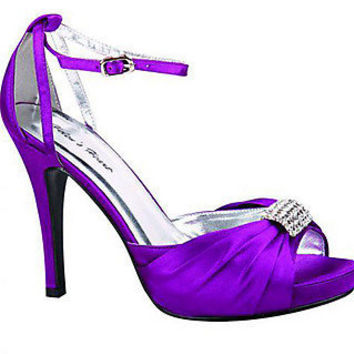 Prom Shoes, High Heels, Sexy Shoes, Formal Dress Shoes- PromGirl: Purple Satin Formal 4 Heel