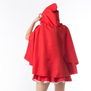 Red Riding Hood Costume Dress Up halloween costumes for women Christmas Cosplay Outfit