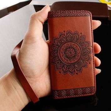 DCCKW2M Retro Flip Leather Wallet Style Phone Cases For iPhone 7 6 6S Plus  5S