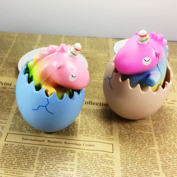 New Arrival Eric Squishying Unicorning Dragon Pet Dinosaur Egg Slow Rising With Packaging Collection Gift Toy