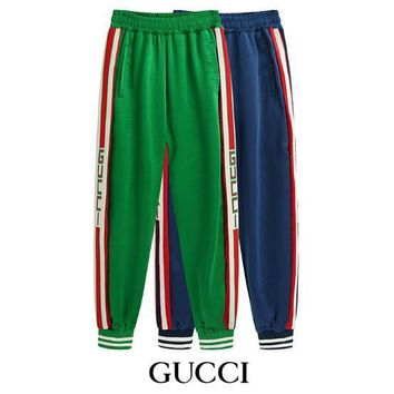 fear of god New Fashion vintage college side striped Men's Sports Pants Male hip hop Trousers Mens Joggers Solid Pants Sweatpant