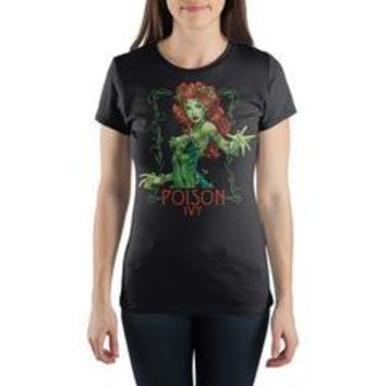 DC Comics Poison Ivy Women's Gray T-Shirt