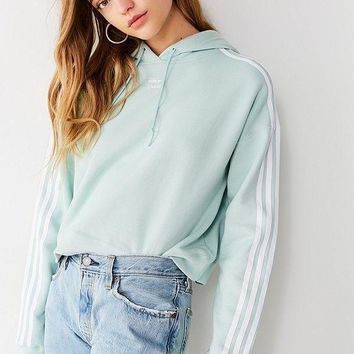 adidas originals adicolor 3 stripes cropped hoodie sweatshirt-1