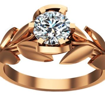 Best Rose Gold Solitaire Diamond Ring Products on Wanelo 2ac5ff4bd7