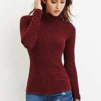 Marled Knit Turtleneck