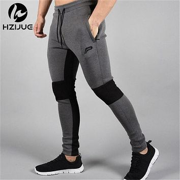 New Brand Clothing Men Pants Fitness Casual Skinny Trousers Bodybuilding Gyms Pencil Pants Men Joggers Elastic Sweatpants