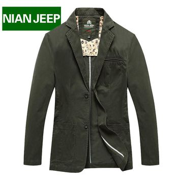 NIAN JEEP Brand Clothing Men's Coat Spring and Autumn Men Dress Clothing 80