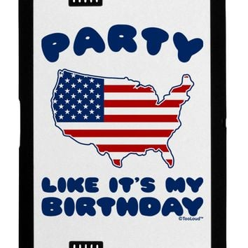 Party Like It's My Birthday - 4th of July Black Jazz Kindle Fire HD Cover by TooLoud
