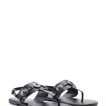 Faux Leather Star Sandals