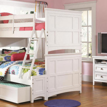 Peyton White Twin over Full Bunk Beds