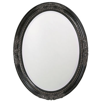 "Howard Elliott Queen Ann Antique Black Mirror 25"" x 33"" x 1.1/2"""