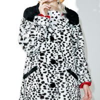 X Disney 101 Dalmatians Faux Fur Coat