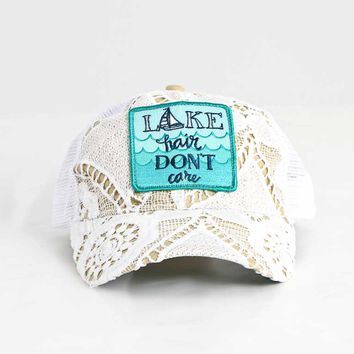 Judith March Crochet Lake Hair Don't Care Trucker Hat 930H-166