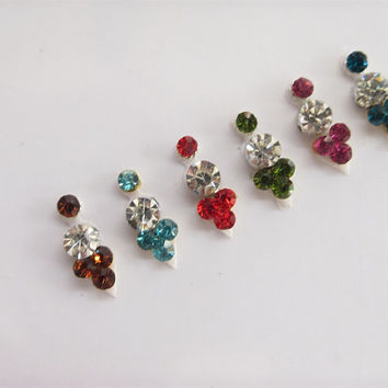 Forever  Beautiful  Color  Rhinestones Star Bindis In One Pack Set/Indian India Bindis/Belly Dance Bindi/ / Bindi Face Jewels