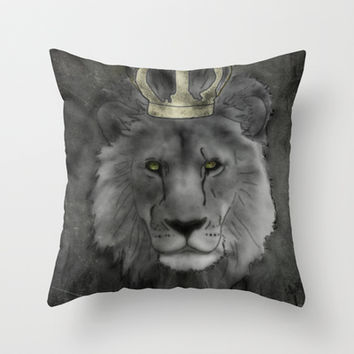 The Lion King Throw Pillow by Barruf