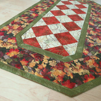 Quilted Table Runner - Autumn Leaves 331