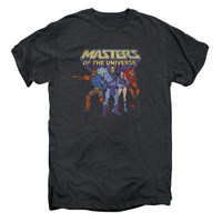 Masters Of The Universe Men's  Team Of Villains Vintage T-shirt Smoke Heather