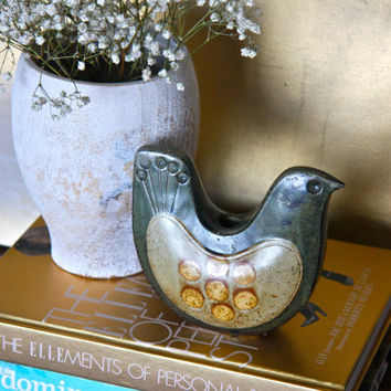 Authentic Vintage Japanese Pottery - Bird Candle Holder