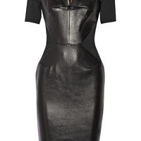 Roland Mouret - Nabis paneled leather and crepe dress