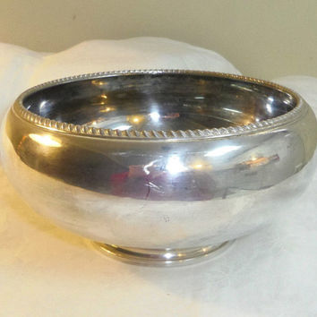 Birks Regency Silverplate Footed Bowl Decorative Edge 8 inch dia mouth