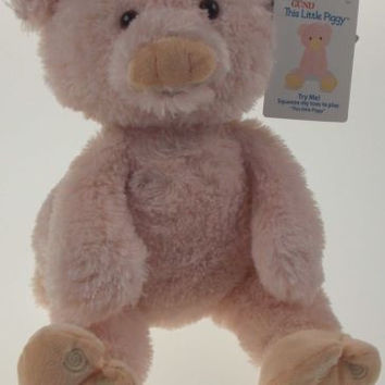 Baby Gund This Little Piggy Soft Interactive Plush Toy Talks Animated Stuffed