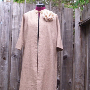Hollywood Style Mad Men Ecru 1960s Swing Coat by KheGreen on Etsy