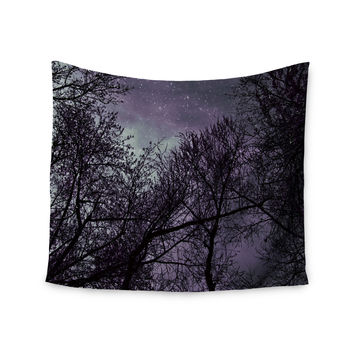 "Sylvia Coomes ""Purple Sky"" Lavender Black Wall Tapestry"