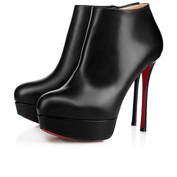 Christian Louboutin Cl Dirdibootie Black Leather 18s Ankle Boots 1180164bk01 -