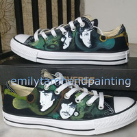 The Beatles Converse Sneakers Low Top Sneaker- Custom Converse Beatles Inspired Paint Shoes