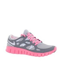 Nike Free Running (+) 2 Grey and Pink Trainers at asos.com