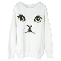 cat face eye eyeball print Tshirt  tee