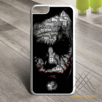 Batman joker typhography quote 2 Custom case for iPhone, iPod and iPad