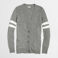 Factory stripe-sleeve merino cardigan : v-necks | J.Crew Factory