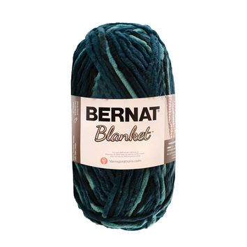 Bernat Blanket Yarn in Teal Dreams Super Bulky Yarn