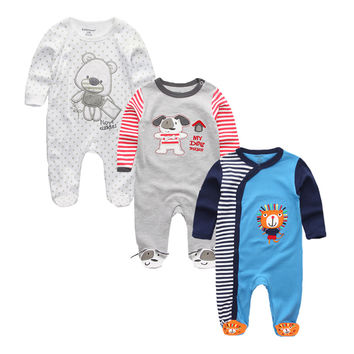 Newborn Baby Boys Girls Rompers Clothes 100%Cotton Cute Foot Cover Blanket Sleepers Infant Clothing for 0-12 Months