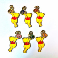 Winnie The Pooh & his Hunny jar necklace or keychain