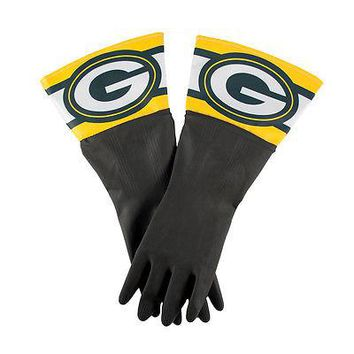 Green Bay Packers NFL Licensed Latex Dish Cleaning Gloves - One Size
