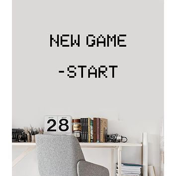 Vinyl Wall Decal Gamer Room Pixel Art Video Games Gaming Stickers Mural (ig6134)