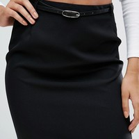 ASOS Belted Pencil Skirt at asos.com