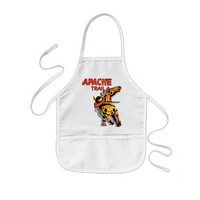 Apache Trail #1, Native American with Banner Kids' Apron