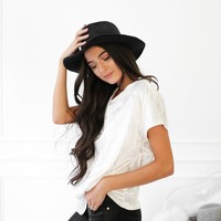 Side Knot Velvet Shirt