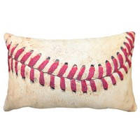 Vintage Baseball Red Stitches Close Up Photo