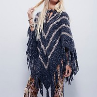 Free People Womens Cashmere Poncho